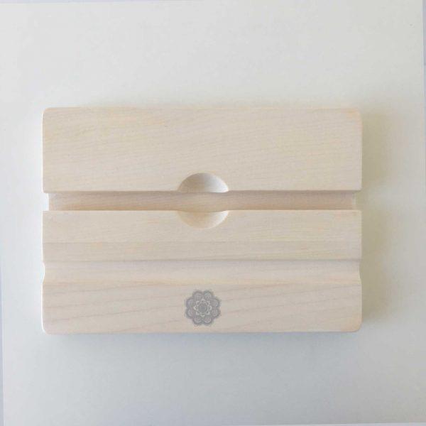 Tablet Halter aus Holz mit Mandala Print