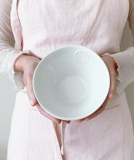 Schüssel aus Steingut 2-er Set für Müsli, Salat, Snacks. Spülmaschinenfestes und robustes Geschirr im mediterranen Stil reduziert kaufen