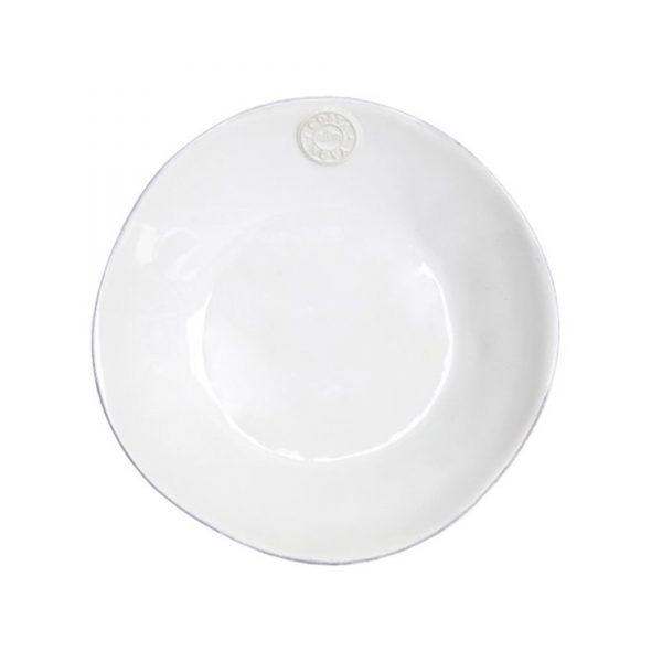 Suppen / Pasta Teller in Weiß   mediterranes Speise und Kuchen Frühstücks Geschirr - in Weiß, Türkis, Blau erhältlich. Für Spülmaschine / Mikrowelle