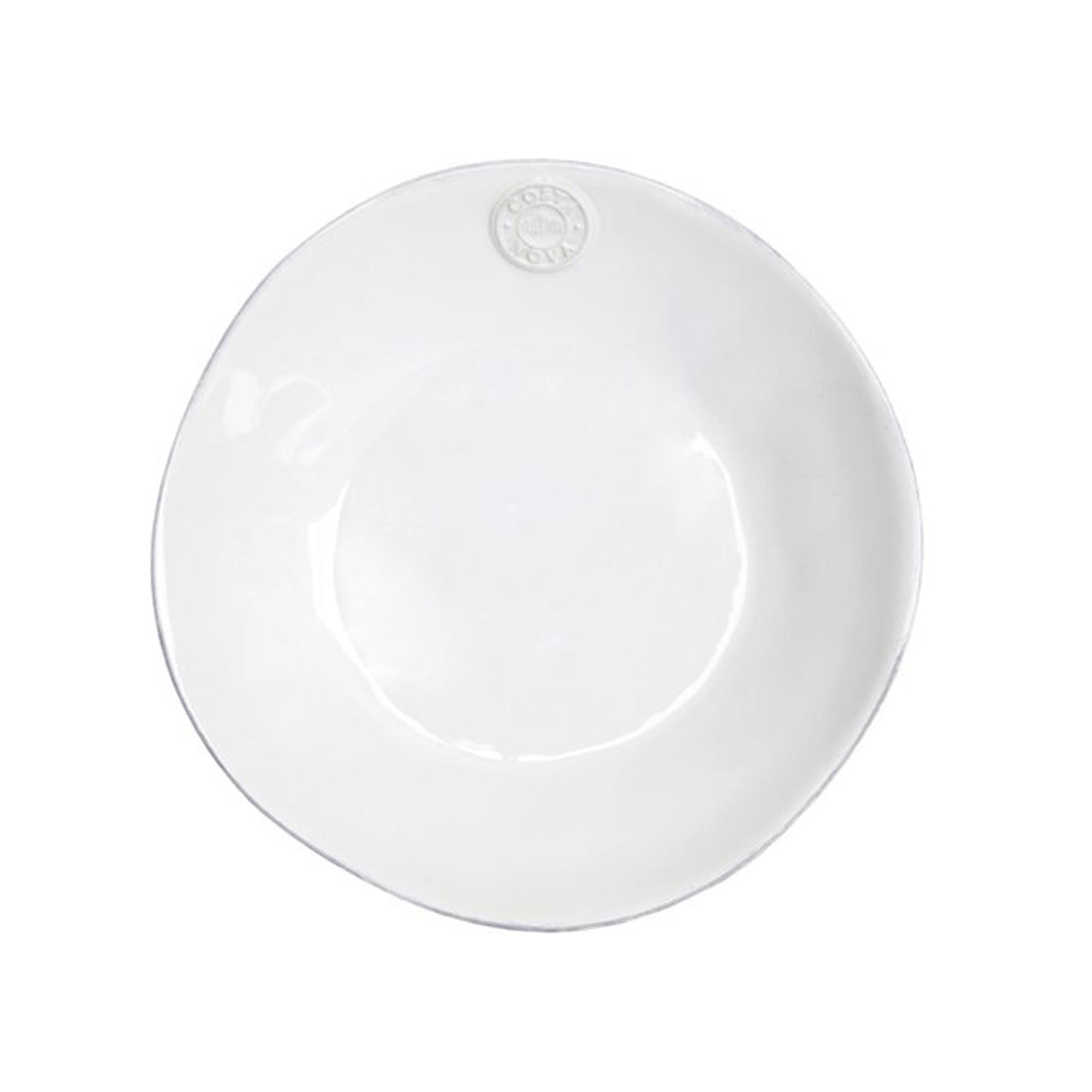 Pastateller in Weiß | mediterranes Speise und Kuchen Frühstücks Geschirr - in Weiß, Türkis, Blau erhältlich. Für Spülmaschine / Mikrowelle