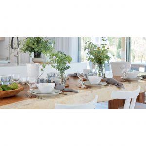 Weißer Speiseteller 27 cm aus Steingut in Weiß, super pflegeleicht im Alltag. Entdecke das hochwertige Geschirr von der Marke Costa Nova aus Portugal