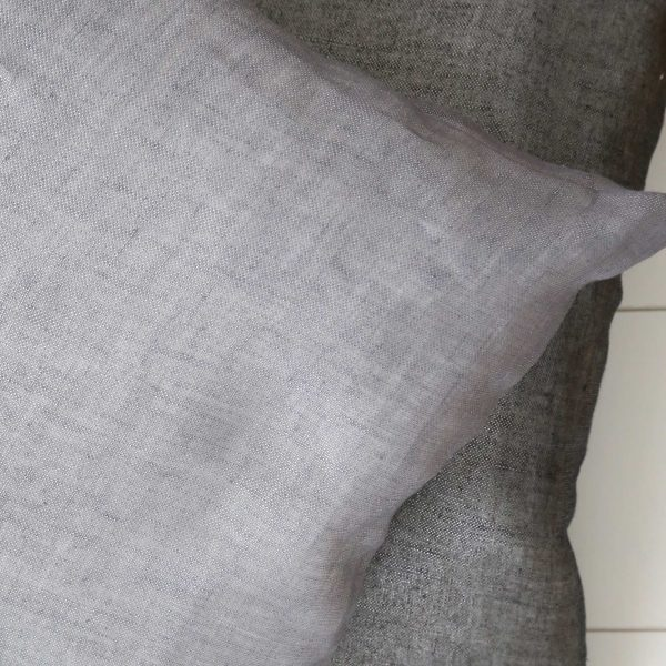 Leinenkissen in 40 x 40 cm, Grau