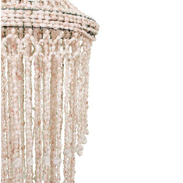 Bohemian Hängelampe aus Muscheln als Dekoration im BOHO Stil. Die handgemachte BOHO Deko aus weißen Muscheln ist atemberaubend schön   online kaufen   Onlineshop
