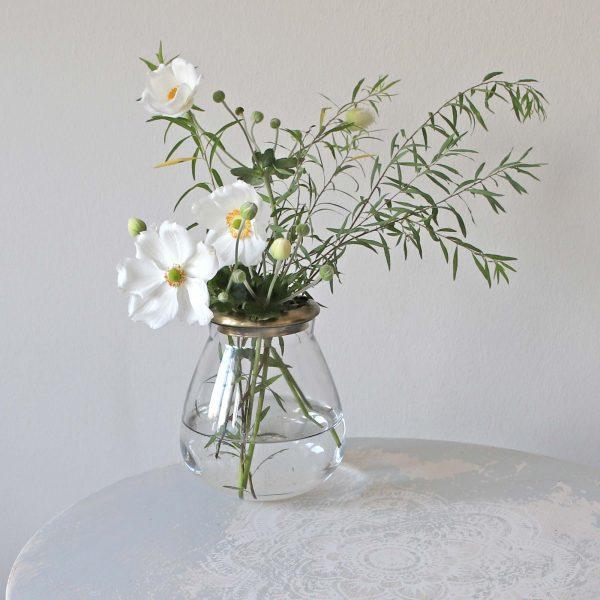 Vase mit Goldenem Rand aus Metall ♥ Romantische Dekoration im Landhaus Stil ✓Für einzelne Blumen & Gesteck ✓Top-Qualität ✓online kaufen ✓ netter Service