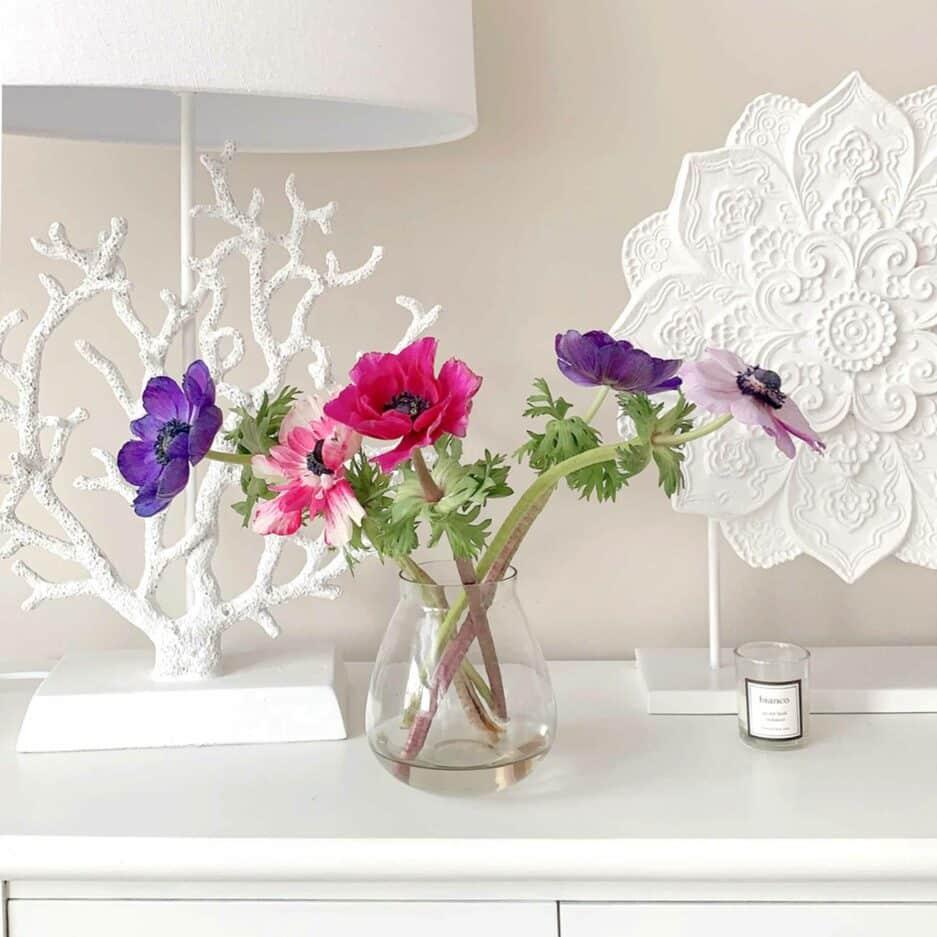 Glasvase mit und ohne Steckaufsatz ♥ Romantische Dekoration im Landhaus Stil ✓Für einzelne Blumen & Gesteck ✓Top-Qualität ✓online kaufen ✓ netter Service