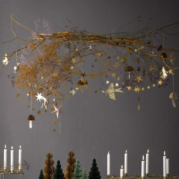 Deko Anhänger goldenes Blatt aus Metall   Skandinavische Dekoration & Accessoires für Weihnachten und Advent online kaufen   Skandi Style
