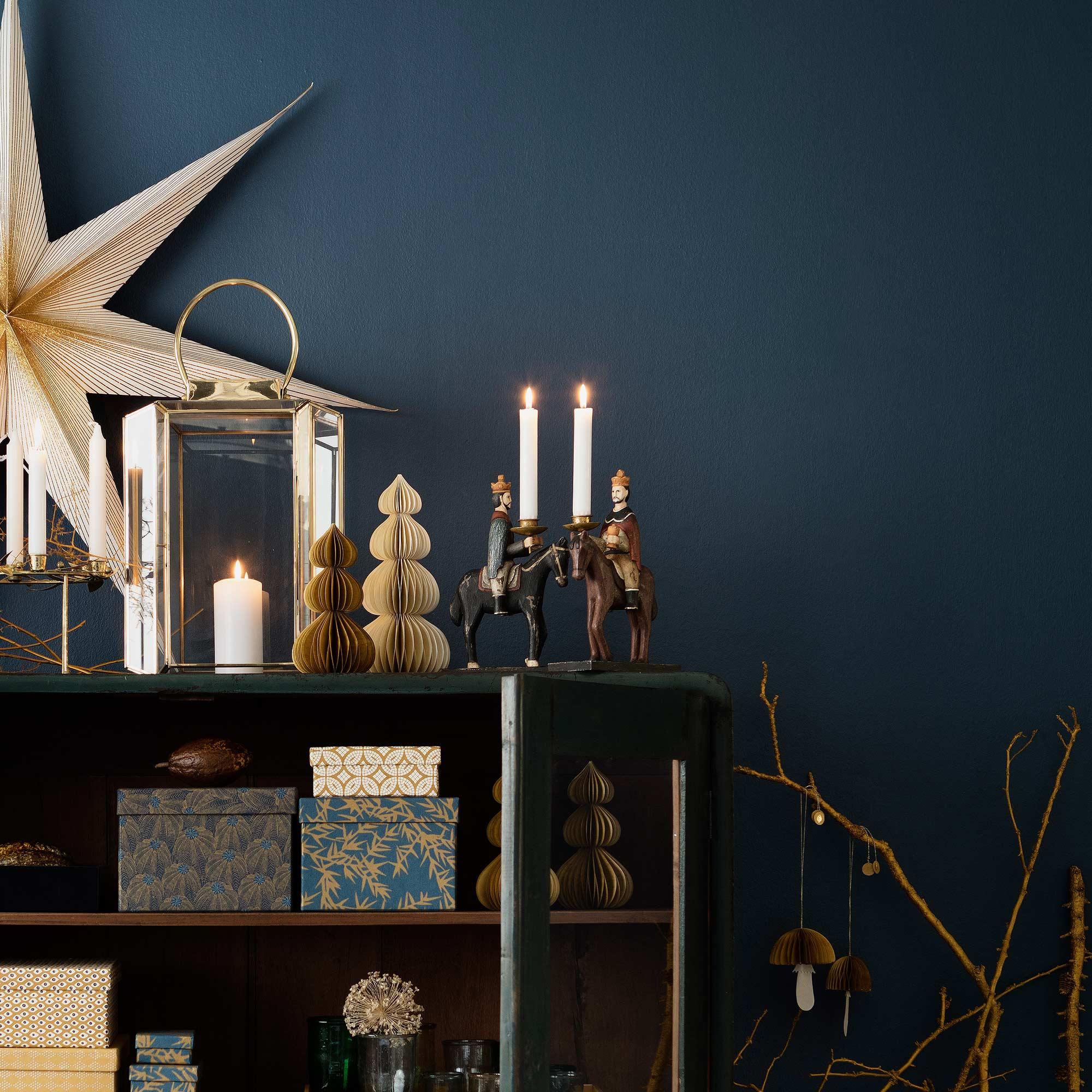 Kerzenhalter Heilige 3 Könige ♥ Farbige Holzfiguren♥ Skandinavische Deko für Weihnachten ♥ Xmas Trend 2019. Dekoration für Advent und Weihnachten   Online kaufen