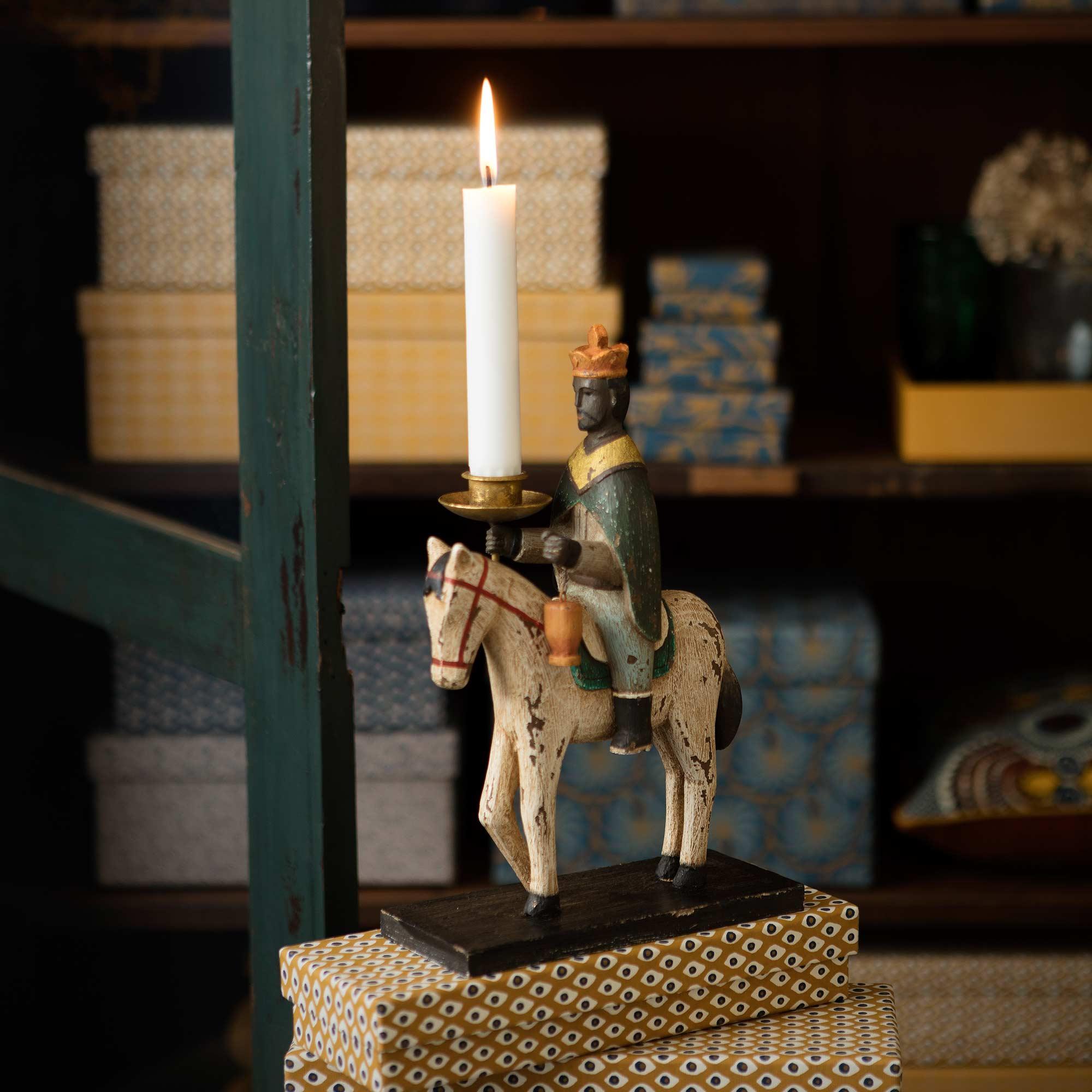 Kerzenhalter Heilige 3 Könige ♥ Farbige Figur aus Holz ♥ Skandinavische Deko für Weihnachten ♥ Xmas Trend 2019. Online kaufen, schneller Versand aus München