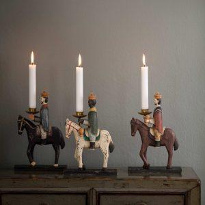 Kerzenhalter Heilige 3 Könige sehen bezaubernd aus. Skandinavische Weihnachtsdekoration aktuell von 2019 aus Dänemark. Online kaufen, schneller Versand