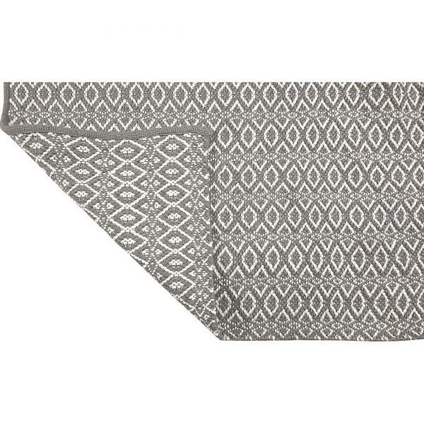 Grauer Teppich ☆ Waschbarer Teppich für das Leben mit Haustieren ☆ aus recyceltem PET von Liv Interior ☆ pflegeleicht | fühlt sich an wie Baumwolle