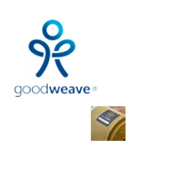 Good Weave Siegel für Liv Interior Teppich. Zertifikat für ethisch hergestellte Teppiche. Waschbarer Teppich pflegeleicht | fühlt sich an wie Baumwolle
