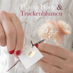Getrocknete Blumen für die Dekoration von Flower Hoop   Trockenblumen von der Marke Bungalow DK für die Deko im Skandinavischen Boho Stil, Frühlingsdeko und für den Adventskranz