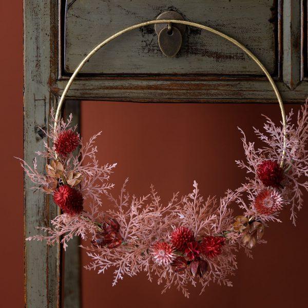Metallring in Gold für die Dekoration von Zweigen und Blumen in der Herbstzeit. Goldene Ringe aus Metall für die Herbstdeko im Bohemian Stil von der Marke Bungalow DK