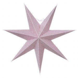Papierstern in Rosa von der skandinavischen Marke Bungalow DK mit 44 cm Durchmesser. Der Stern aus Papier dekoriert das Zuhause an Weihnachten und im Advent