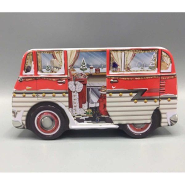 Keksdose Camper Geschenk für den Freund ♥ In die süße Dose in der Form eines Hippie VW Bus passen viele Kekse, Plätzchen und Geschenke hinein ☆ Weihnachtsgeschenk kaufen