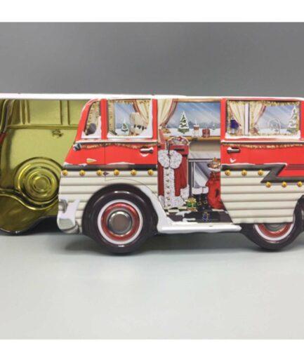 Campingbus als Dose ♥ Geschenk für Camper ♥ In die süße Blechdose in der Form eines Hippie VW Bus passen viele Kekse und kleine Geschenke hinein ☆ Weihnachtsgeschenk