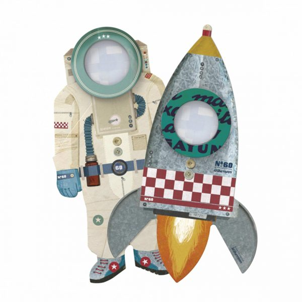 Dies sind ganz besondere Lupen für Kinder, die Lust auf das Entdecken machen ♥ Astronaut und Rakete ♥ Londji Spielzeug online kaufen ☆ Schneller Versand
