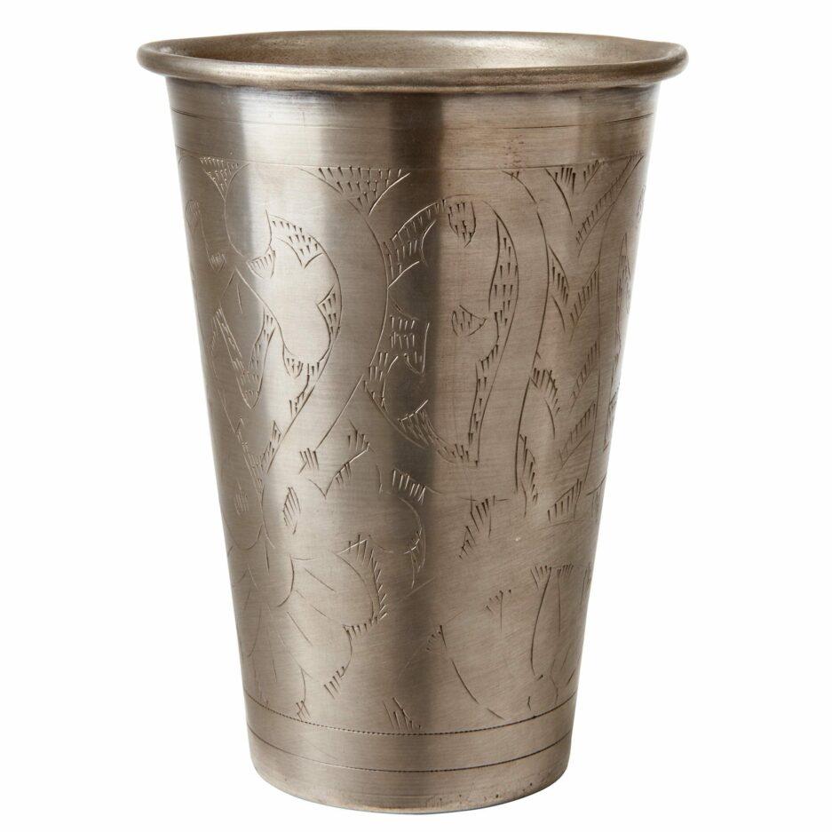Lassi Becher in Silber   elegante Accessoires und Wohndeko im Ethno Boho Stil   Besondere Wohnaccessoires und Unikate. Schnelle Lieferung und netter Service