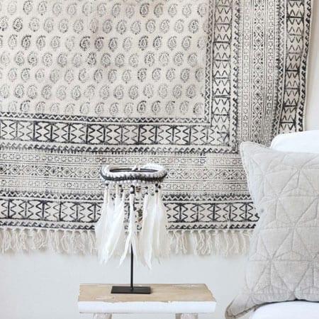Teppiche mit BlockPrint. Rechteckige, marokkanische, skandinavische Teppiche.