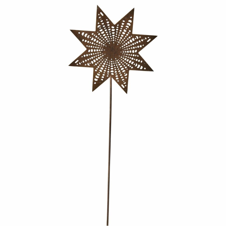 Stern für den Adventskranz aus goldenem Messing Metall mit einem Dorn von der Marke Cest Bon aus Schweden. Dekoration für den Adventskranz im skandinavischen Stil