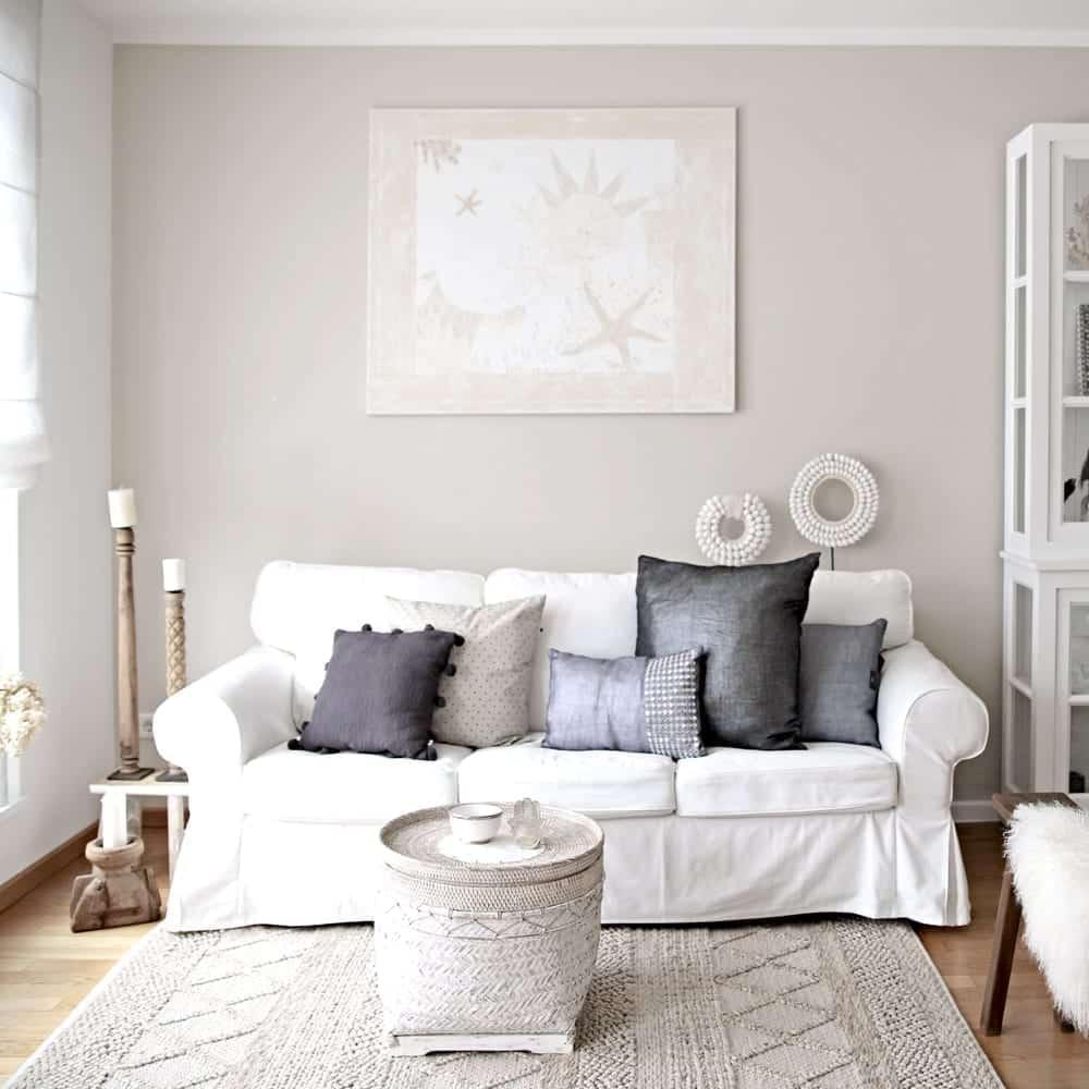 Sofakissen dekorieren DIY mit Kissen auf dem Sofa einen eigene Style schaffen