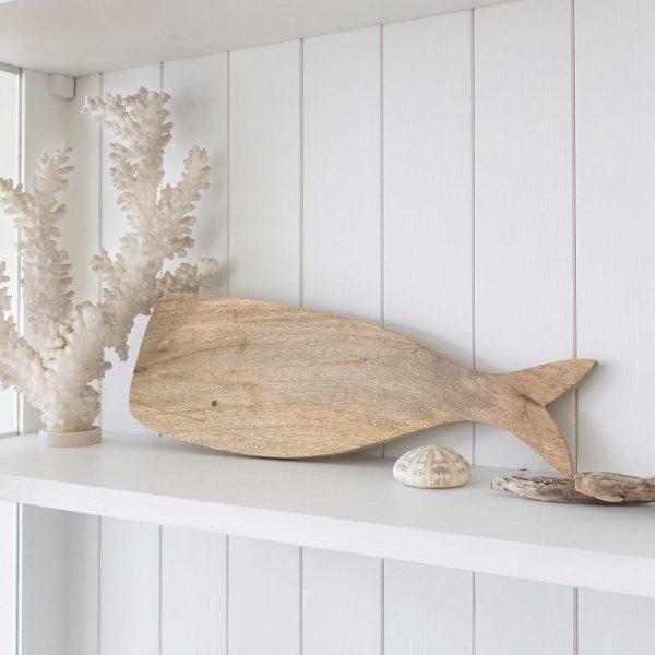 Holzbrett WalFisch als Schneidebrett, Dekoration & zum Servieren. Foodsafe Schneidebrett und dekorativ an der Wand in Küche oder Esszimmer. Holzbrett Fisch online kaufen