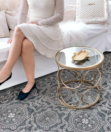 Hamsa Schale Fatimas Hand im marokkanischen Wohnstil ♥ Goldenes Hamsa Tablett aus Marokko im marokkanischen Stil ♥ Marokkanische Deko kaufen