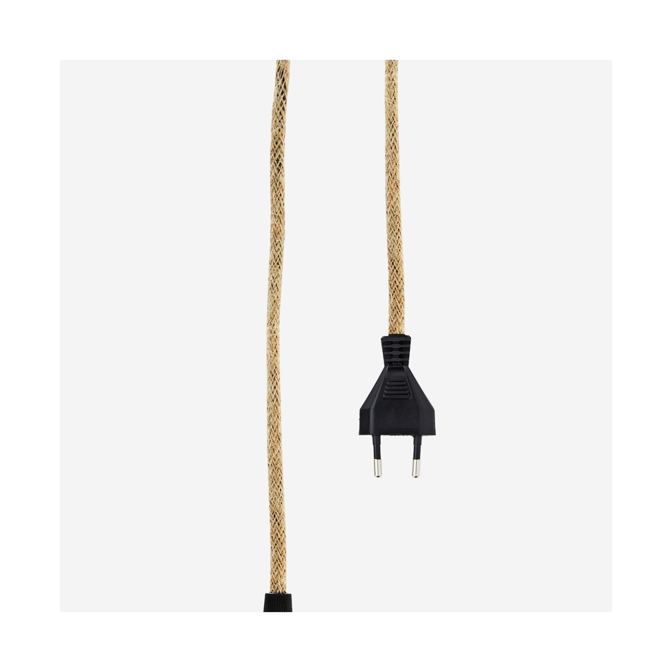 Lampenfassung mit Kabel aus Seil für E27 Glühbirnen und alle Madam Stoltz Lampen. Hübsche Lampenkabel aus Jute für dezente Elektrik online kaufen bei Soulbirdee Onlineshop