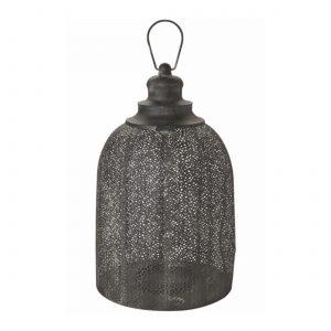 Marokkanisches Windlicht in Schwarz mit 32cm Höhe aus Metall zum aufhängen und hinstellen. Wunderschöne Windlichter für Drinnen und Draußen entdecken