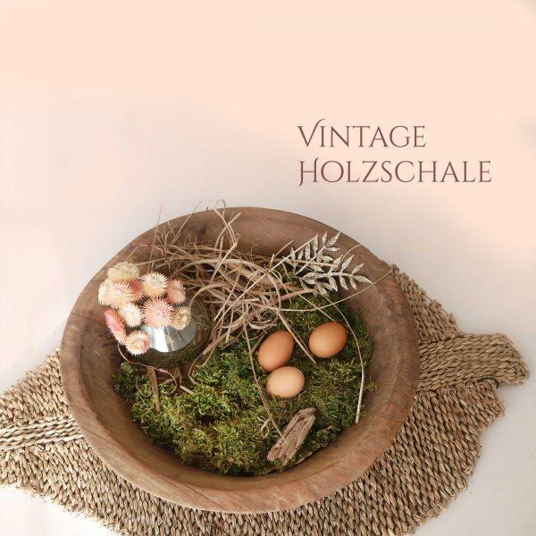 """Vintage Holzschale """"Gewürzstrasse"""" aus hellem Holz. Eine handgemachte Schale aus Holz zum dekorieren oder als Tablett aus Holz. Online kaufen bei Soulbirdee"""