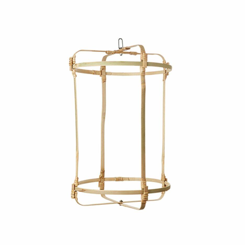 Lampenschirm aus Bambus M für Ihre Einrichtung im Strandhaus Stil. Zu den beliebten Lampen gibt es verschiedene Stoffbezüge. Onlineshop Soulbirdee