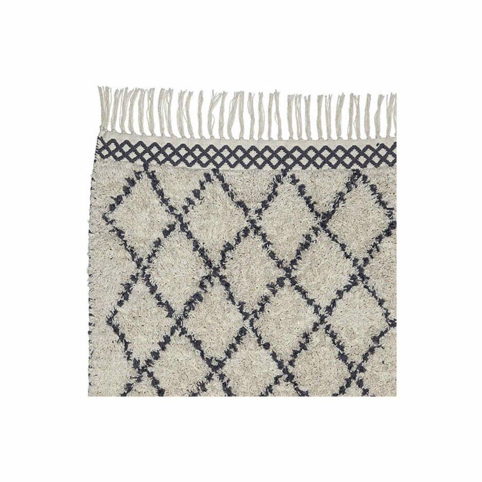 Beni Ourain Teppich aus weicher Bio Baumwolle in 60 x 90 cm von Liv Interior. Teppich mit Good Weave Siegel aus fairer Produktion in vielen Farben