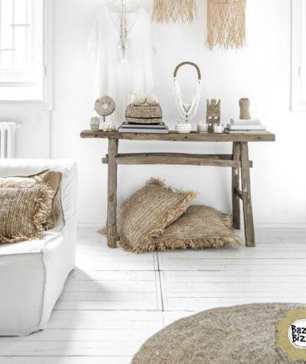 Wohndekoration aus Naturmaterialien wie Bast und Muscheln von Bazar Bizar bei Soulbirdee online kaufen. Lampenschirm aus Bambus oder aus Bast im Ethno Stil, Onlineshop Soulbirdee