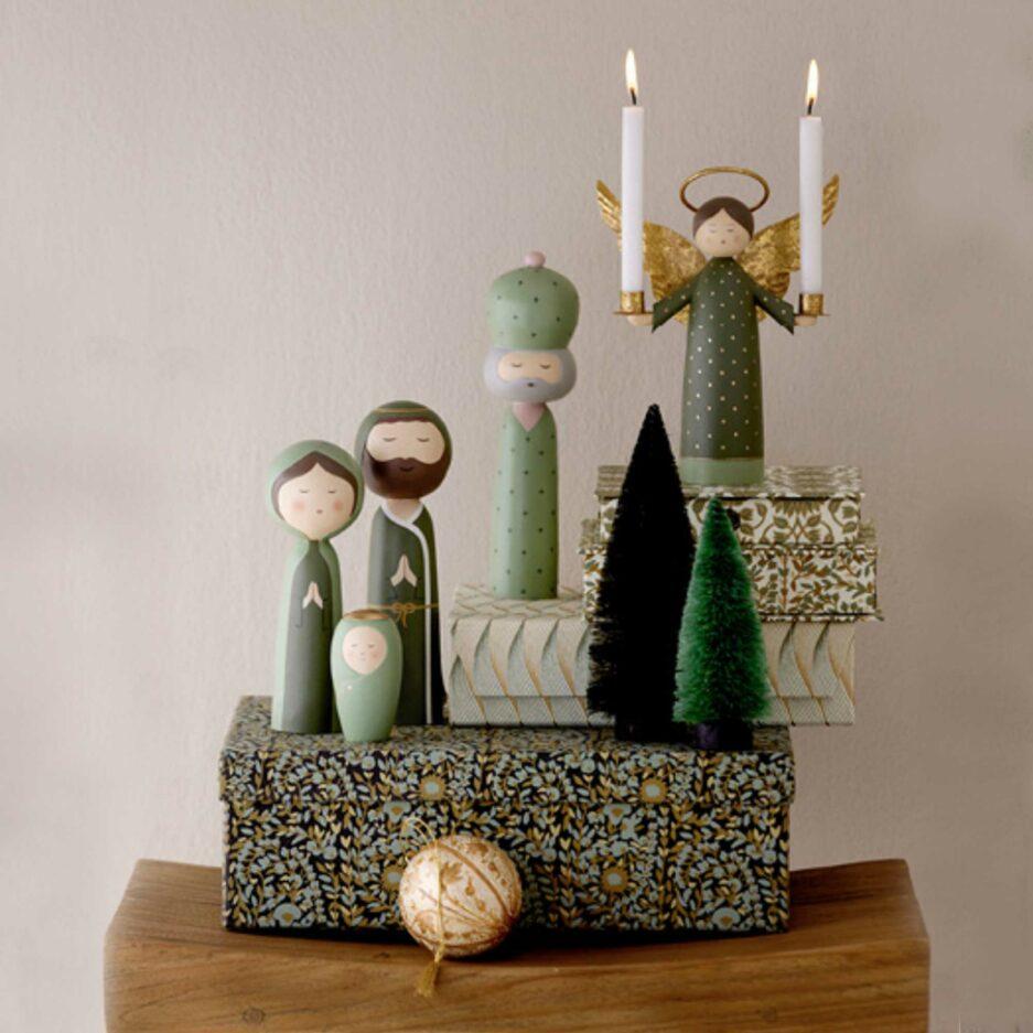 Weihnachtsdekoration Weihnachten dekorieren mit Figuren und Krippe und Engel, Soulbirdee Onlineshop