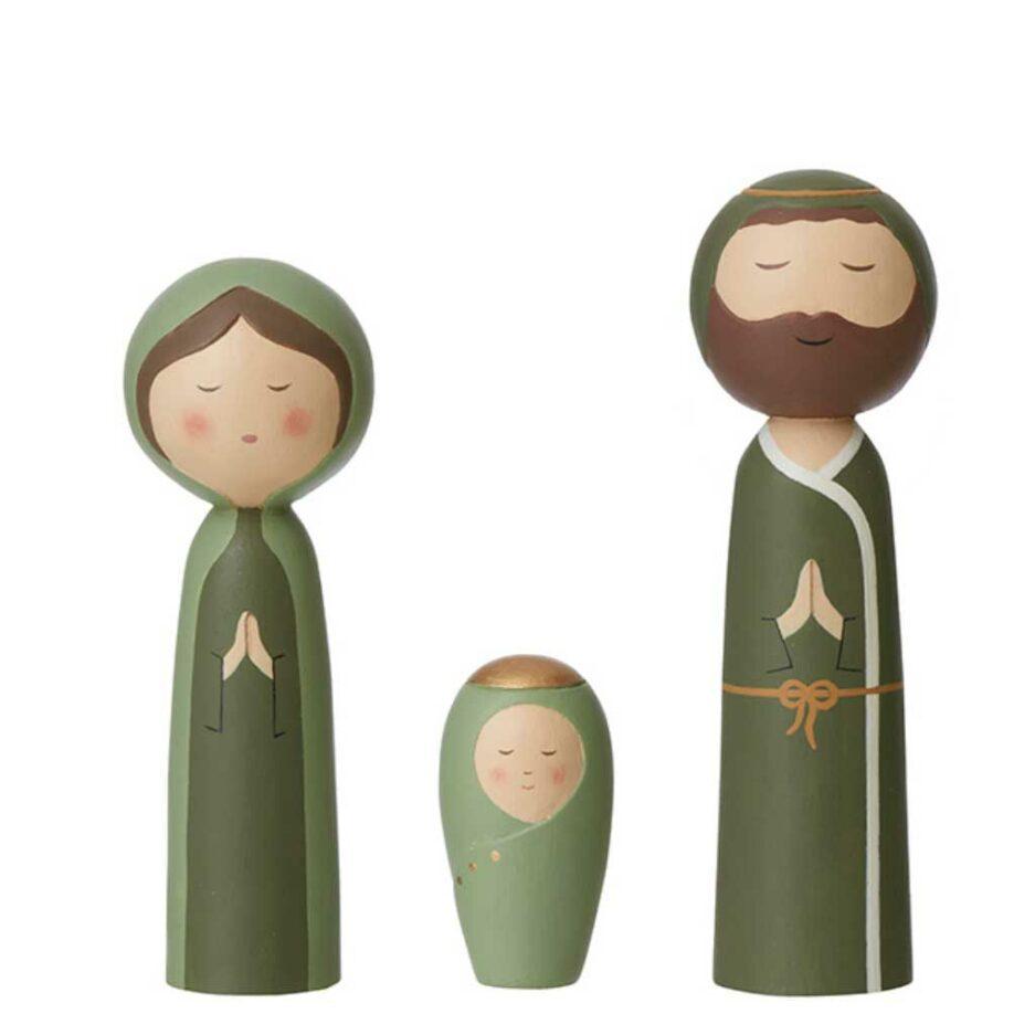 """Kokeshi Figuren """"Heilige Familie"""""""