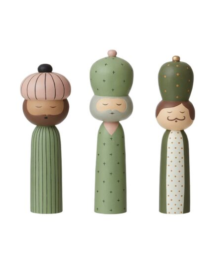 Kokeshi Figuren Heilige Könige | Dekofiguren | skandinavische Weihnachtsdekoration 2020 von Bungalow, Dänemark. Online kaufen, schneller Versand, Soulbirdee