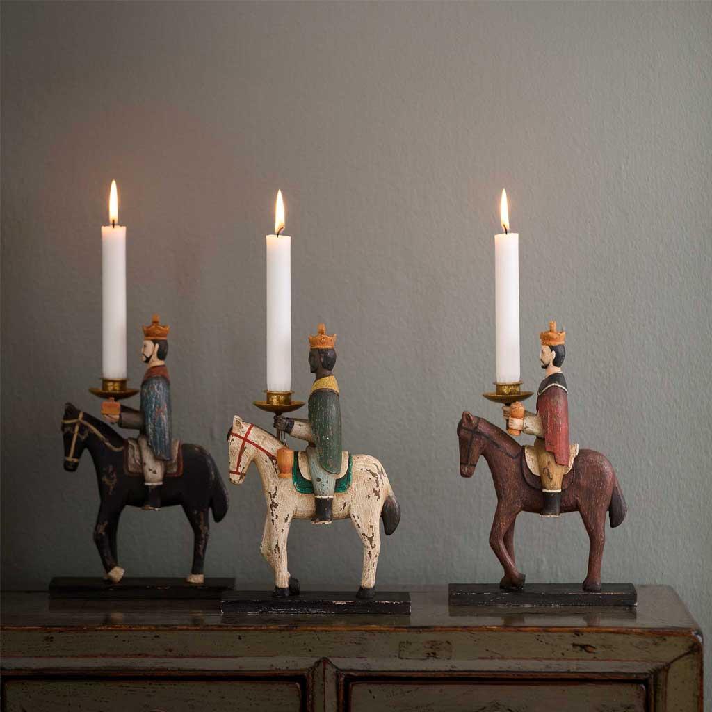 Heilige 3 Könige Dekofiguren als Weihnachtsdekoration