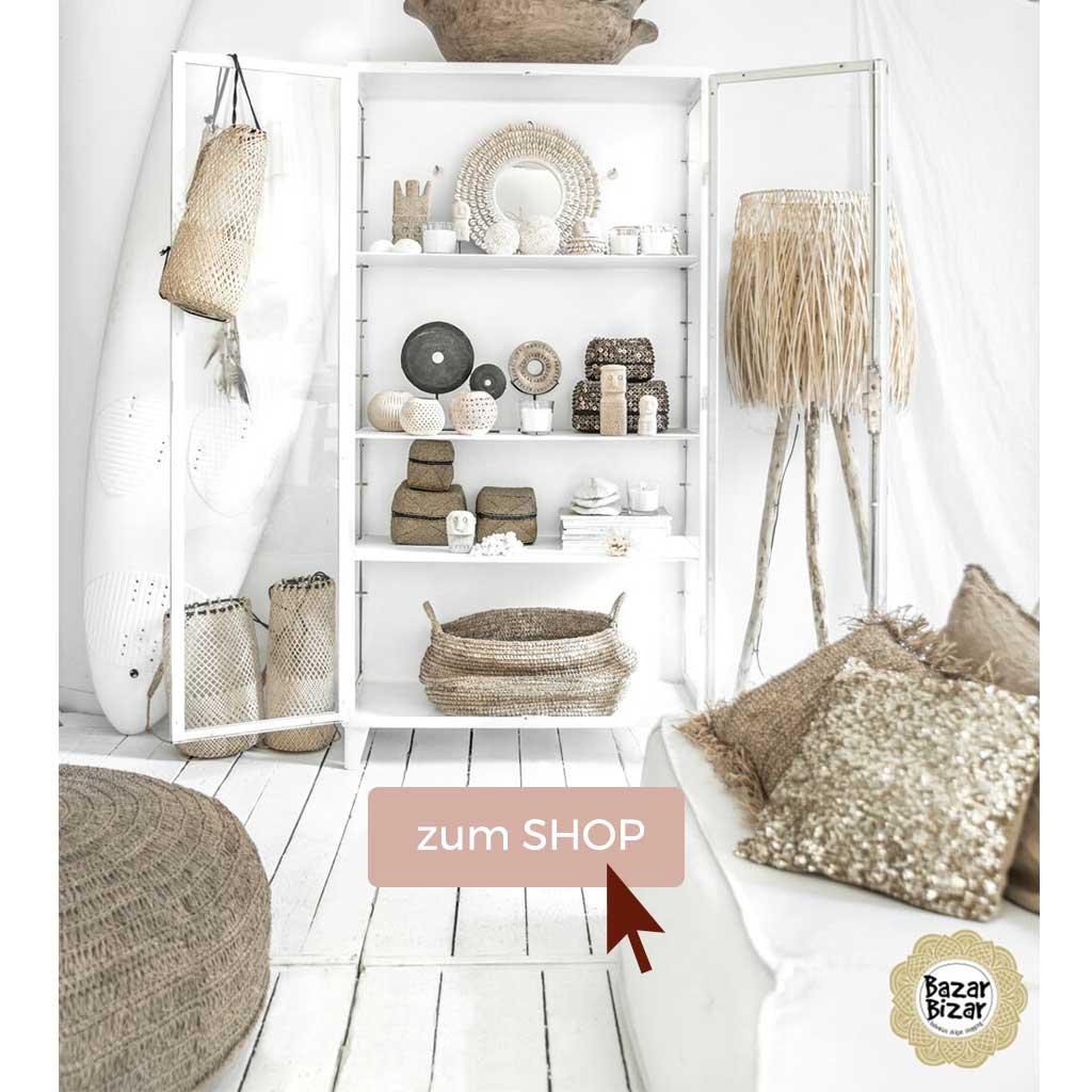 Strandhaus Accessoires aus Natur Materialien im Ethno und Boho Stil online kaufen