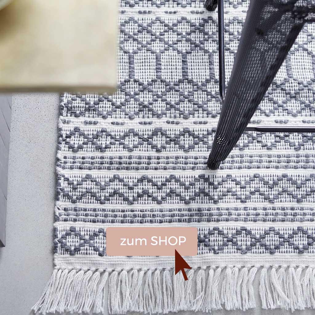 Monochrome Teppiche für Outdoor und für drinnen bei Soulbirdee Onlineshop
