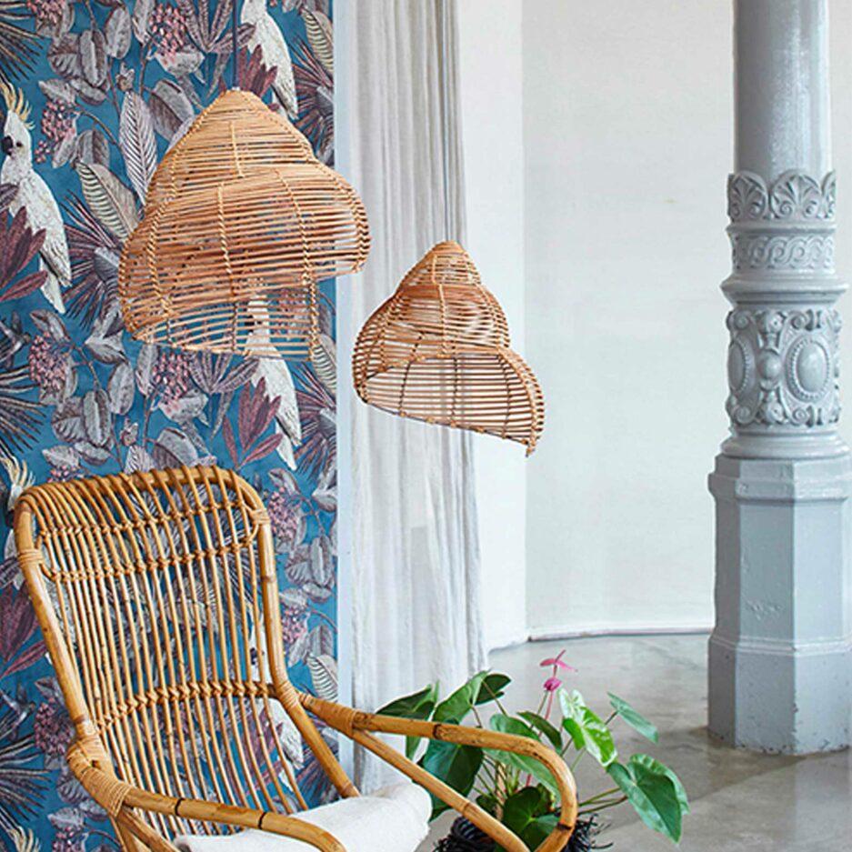 Lampenschirm Oyster von Liv Interior aus Skandinavien als Set mit 2 Stück. Die Lampenschirme in 40 cm sowie 30 cm sind unterschiedlich groß und haben die Form einer anmutigen Muschel.