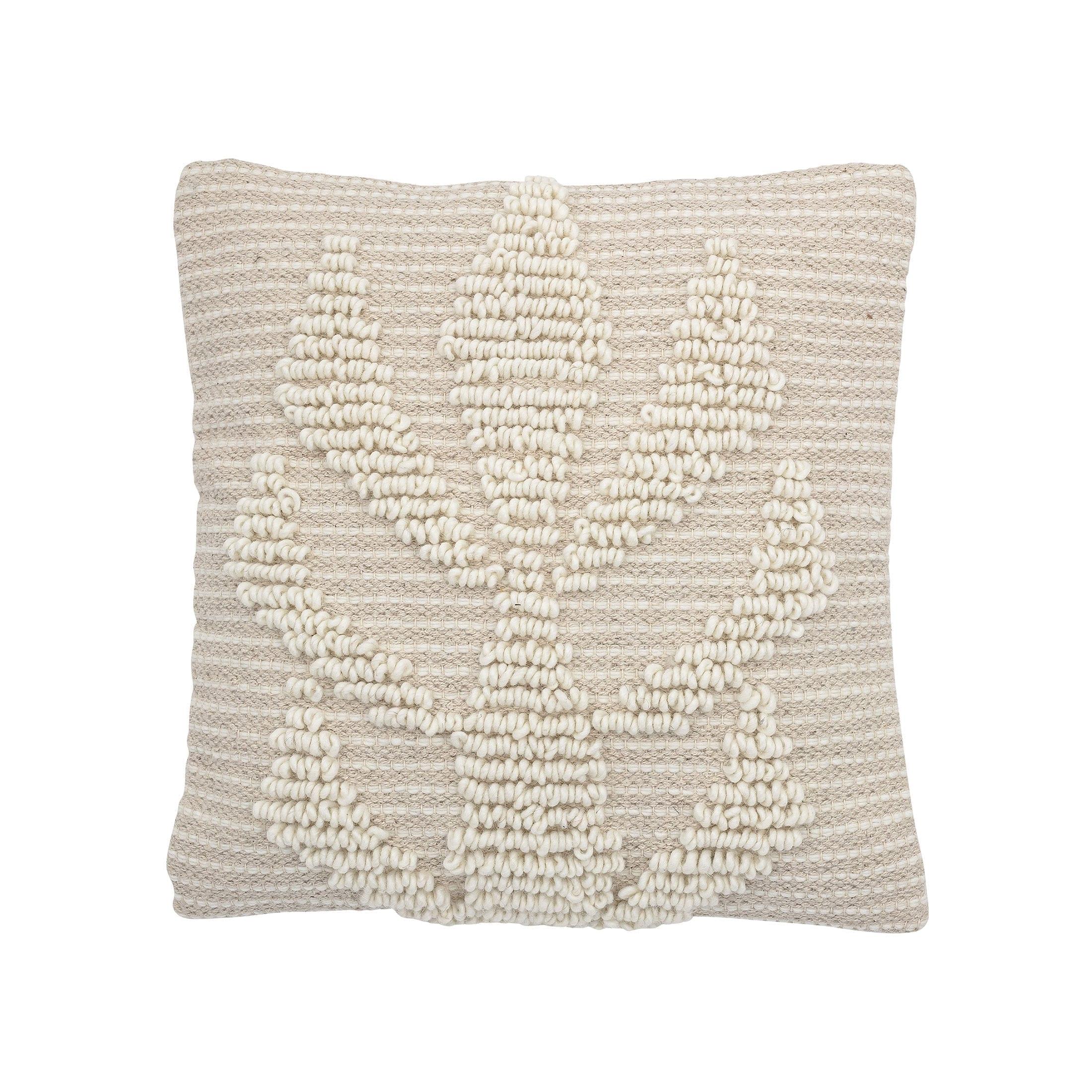 Weisses Kissen online kaufen ♥ Quadratisches Dekokissen 40x40 & Sofakissen in Weiß mit Tribal Muster im Kalifornischen Style ♥ Onlineshop Soulbirdee