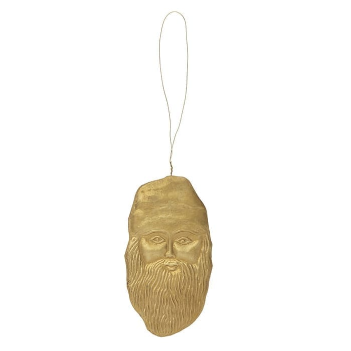 "Christbaumschmuck ""Nikolaus"" Dekoanhänger in Gold Figur Weihnachtsmann | Geschenk | Christbaumschmuck | skandinavische Weihnachtsdeko. Soulbirdee Onlineshop"