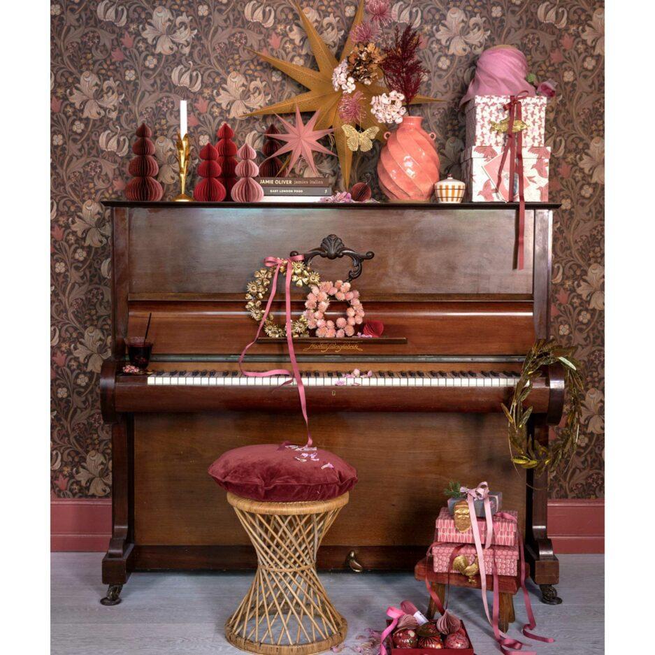 Rosa Kranz aus Trockenblumen | Skandi Deko