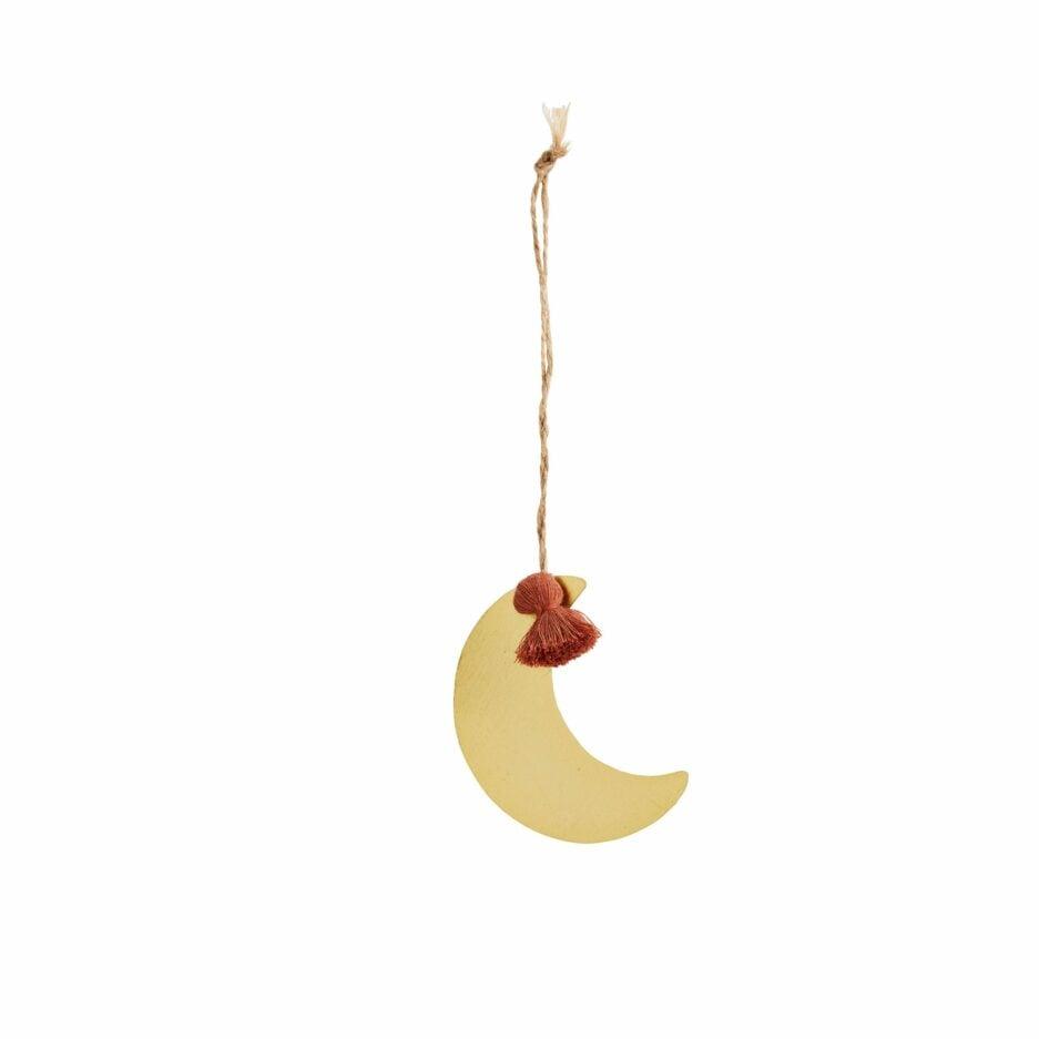 Mond von Madam Stoltz, Deko Anhänger goldener Mond