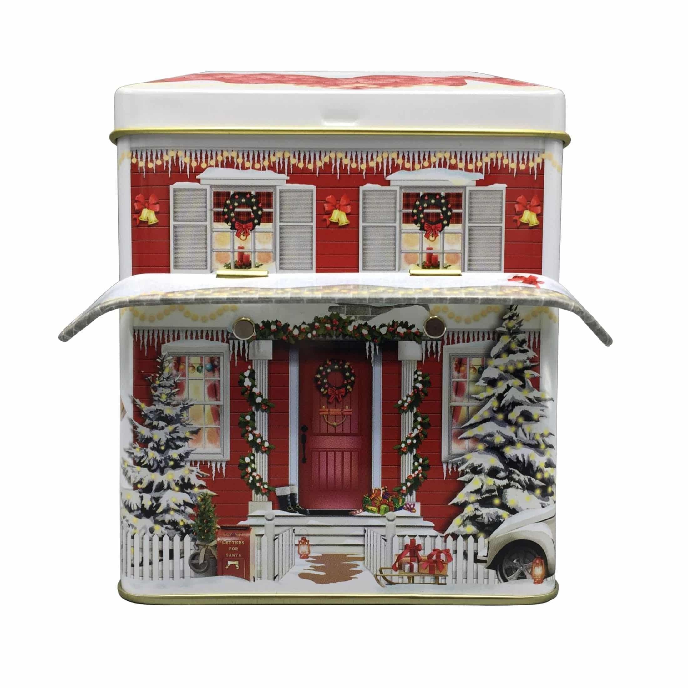Blechdose für Kekse und die Weihnachtsbäckerei in Form eines Hauses ♥ Entdecke die besonderen Keksdosen für die Plätzchen und weitere Motive ♥ Onlineshop