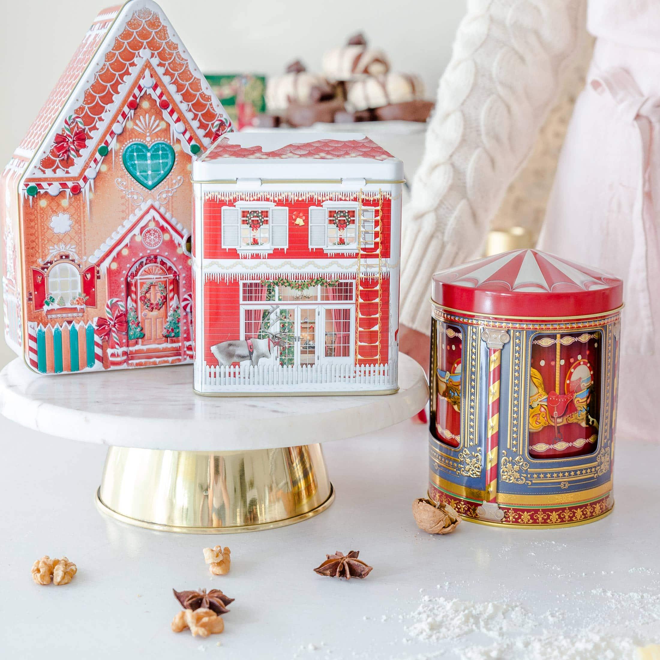 Dose für Kekse und die Weihnachtsbäckerei in Form eines Hauses ♥ Besondere Keks-Dosen für Plätzchen online kaufen ♥ Onlineshop Soulbirdee