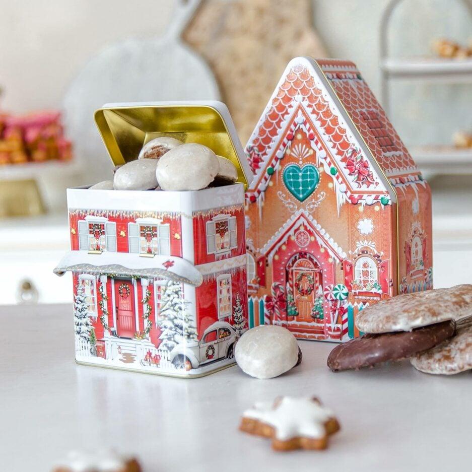 Plätzchen-Dose Haus für Ihre selbst-gebackenen Plätzchen zu Weihnachten ♥ Dose für die Aufbewahrung von Weihnachtsplätzchen online kaufen ♥ Soulbirdee Onlineshop