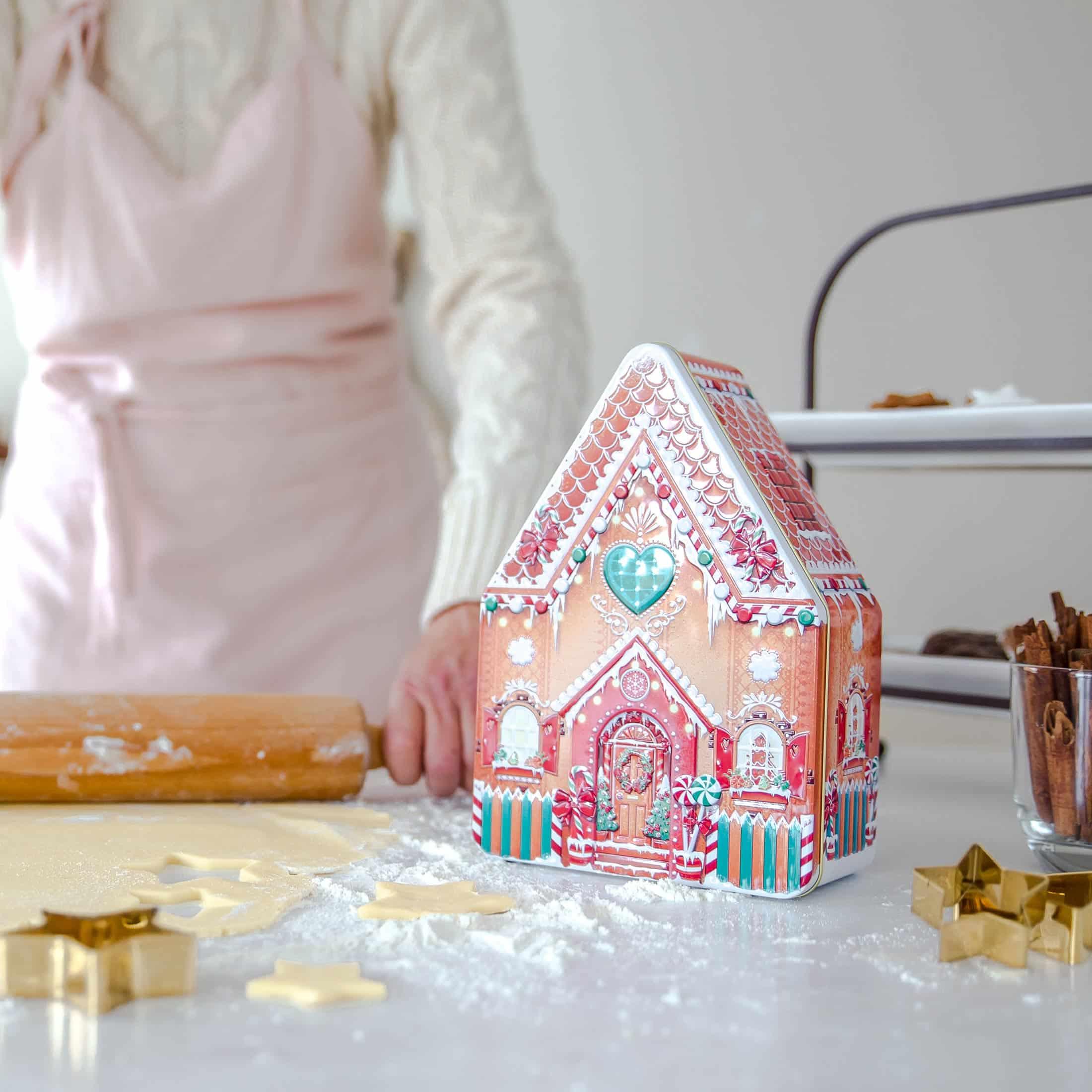 Plätzchendose Haus für Ihre selbstgebackenen Plätzchen zu Weihnachten ♥ Dose für die Aufbewahrung von Weihnachtsplätzchen ♥ Soulbirdee Onlineshop