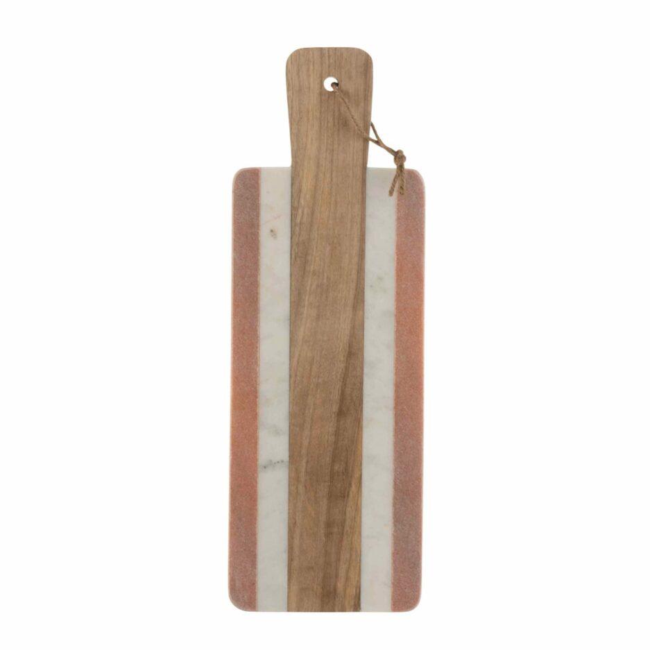 Weihnschtsgeschenk für den Hobbykoch: Rechteckiges Servierbrett aus Terrazzo & Holz ♥ Ein tolles Geschenk für jeden Hobbykoch und Fans besonderer Küchendeko