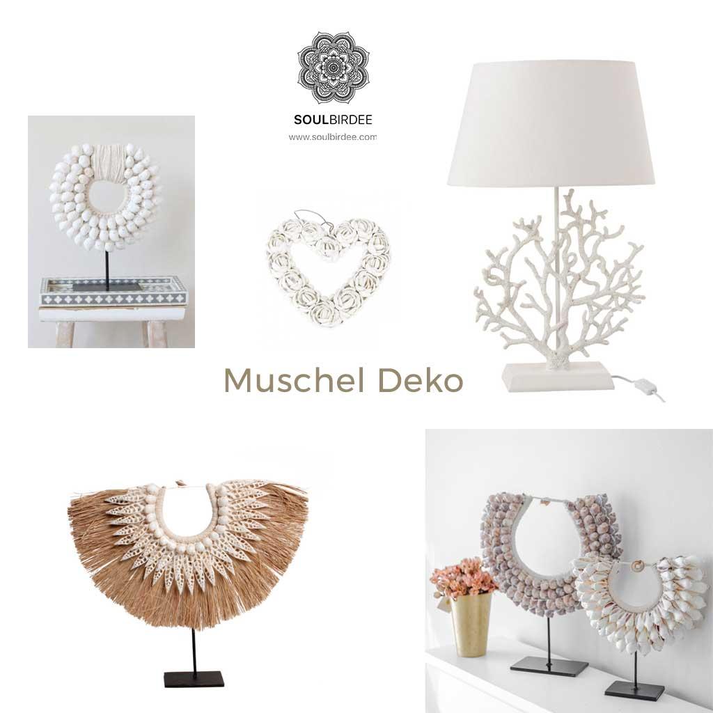 Muschel Deko, mit Muscheln dekorieren